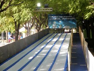 Tobogán de la Feria del Hielo de Sevilla - Navidad 2011