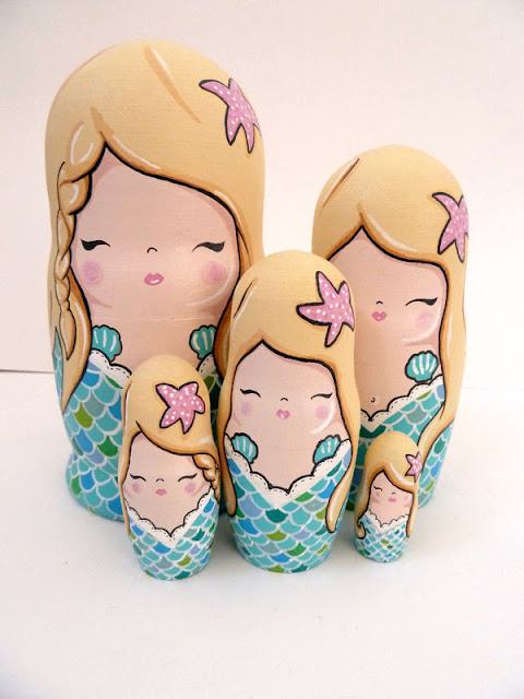 darling cute hand painted mermaids