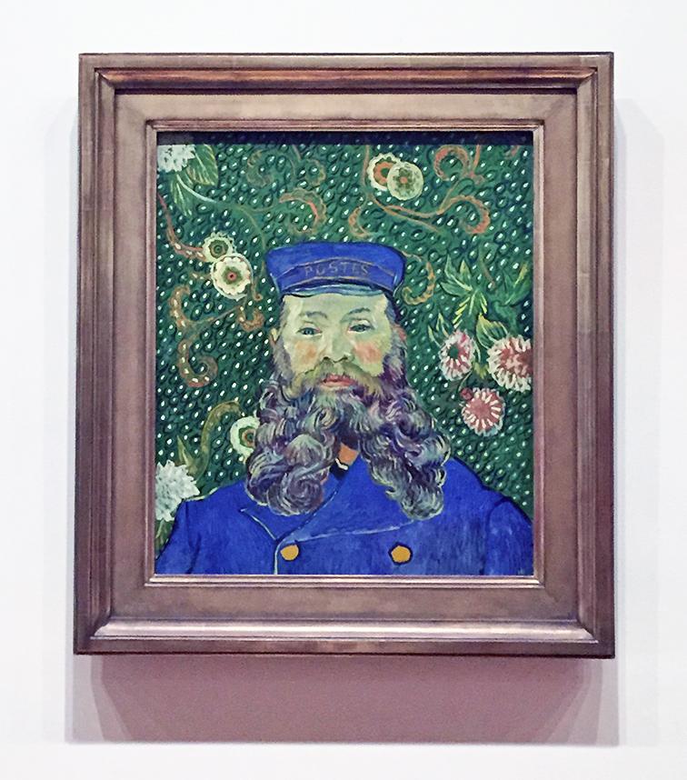 Vincent Van Gogh portrait of a postman, Joseph Roulin