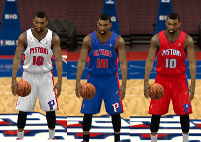 NBA 2K13 Detroit Pistons Jersey HD Patch