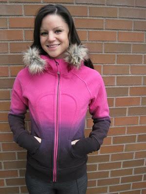 lululemon paris pink dip dye scuba hoodie