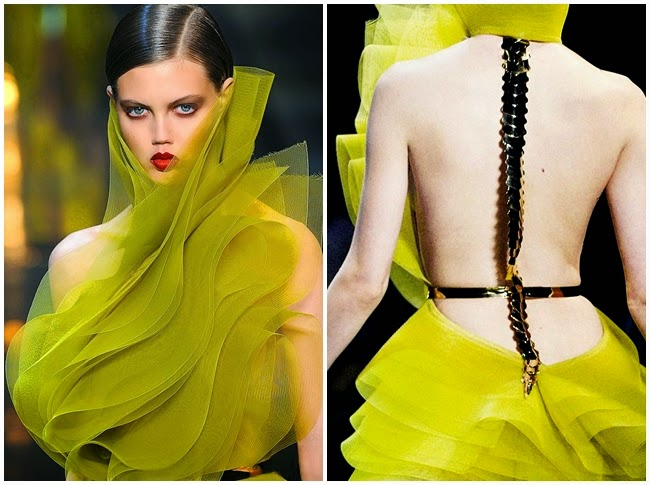 Alexandre Vauthier Couture Spring 2014 Little Mesh Green Dress