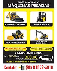 Curso de operador de máquinas pesadas em Catarina.
