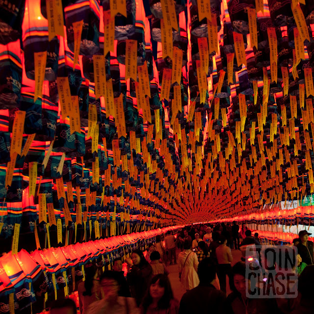 A tunnel of lanterns at Jinju Lantern Festival in South Korea.