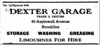 Dexter Garage ad, 1932