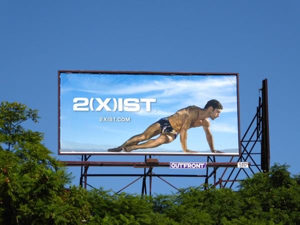 2Xist Sliq micro trunk underwear billboard