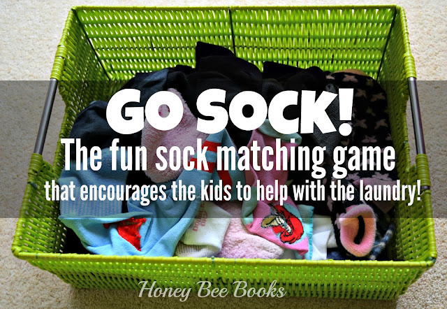 How to play Go Sock! The fun sock matching game that encourages kids to help with the laundry!