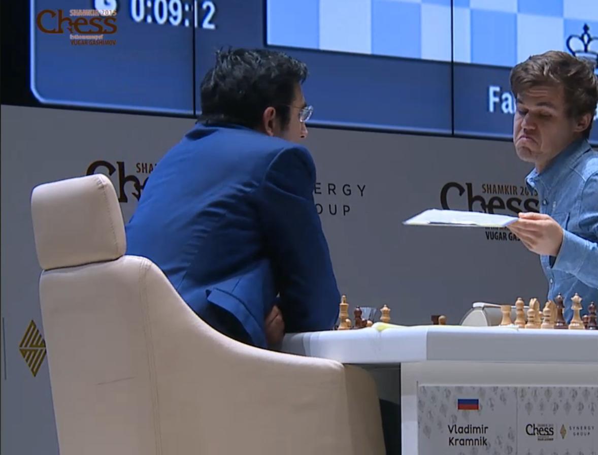 Shamkir Chess 2015. Carlsen - Kramnik