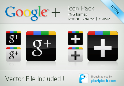 Free Download Google+ Vector Icon Pack