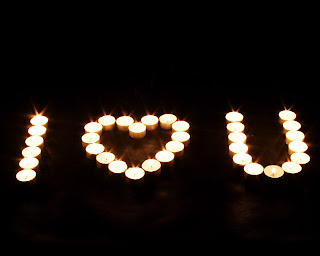 Candle I Love U Sign Love Wallpaper
