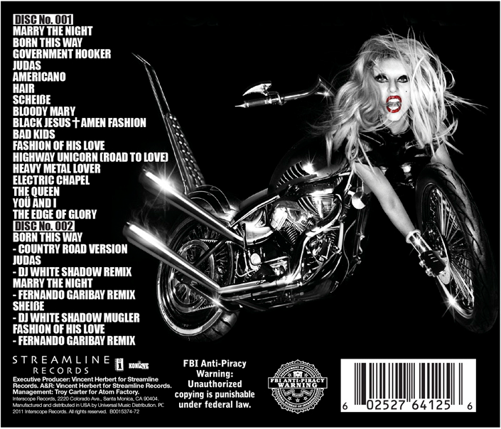 lady gaga born this way deluxe album. images Lady Gaga: Born This