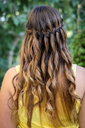 HairstyleWaterfall braid! It looks so gorgeous on long wavy hair, .