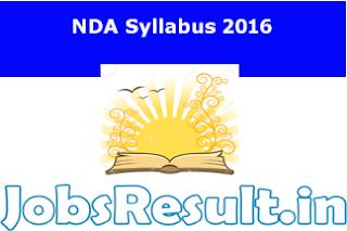 NDA Syllabus 2016