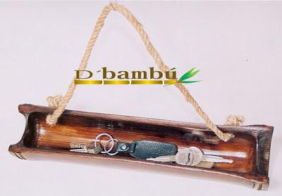 porta-llaves de cañas de bambú-eltallerdejazmin