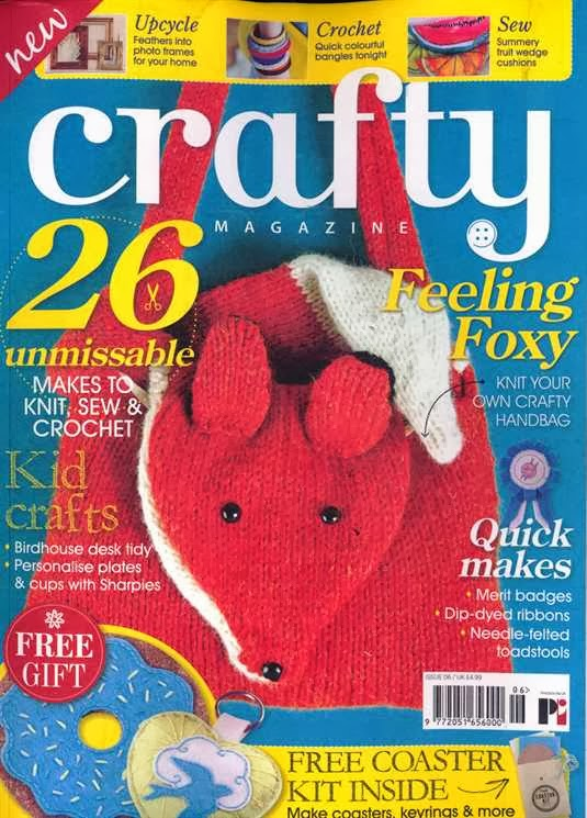home feature in crafty mag