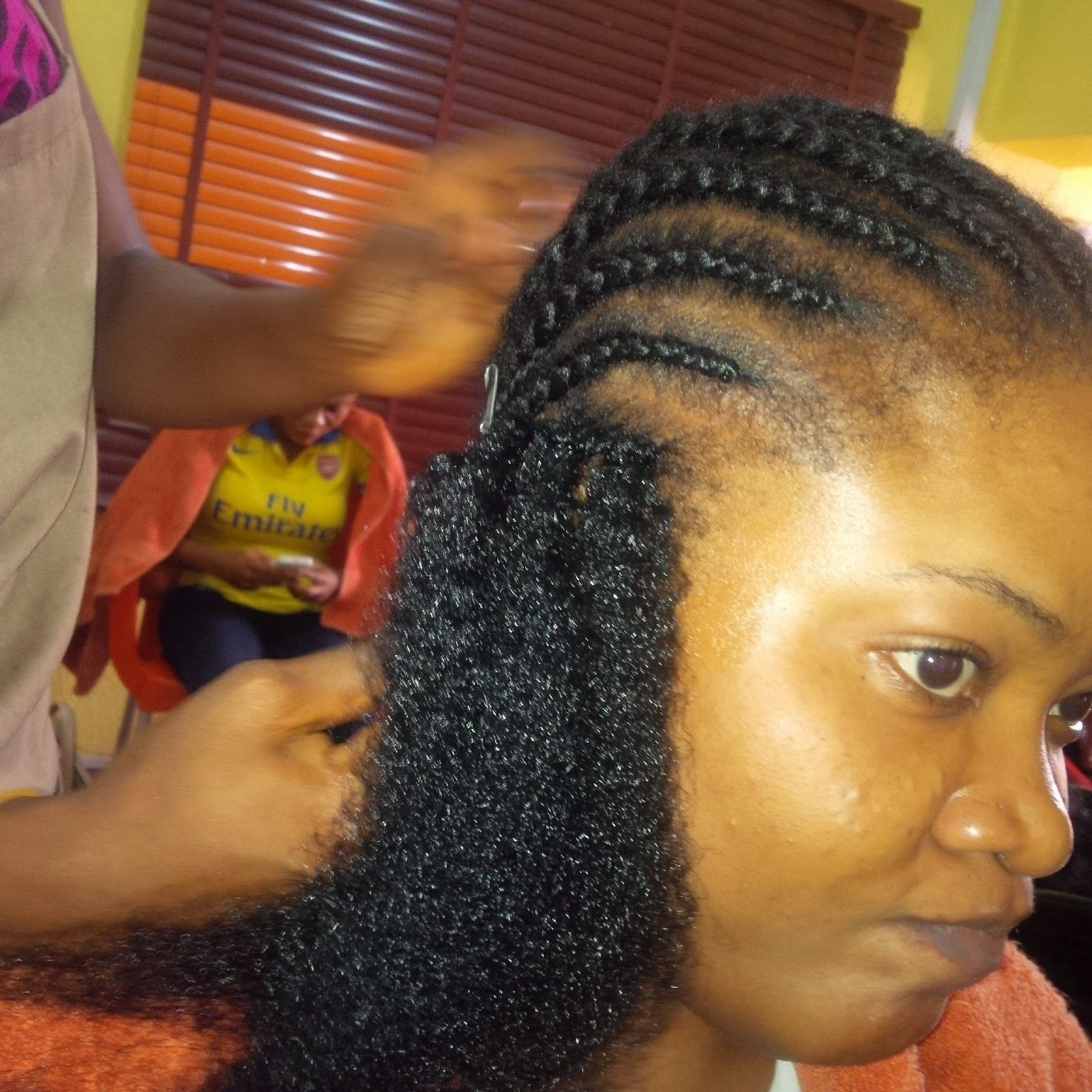 then the extension was divided into two and looped into the corn rows