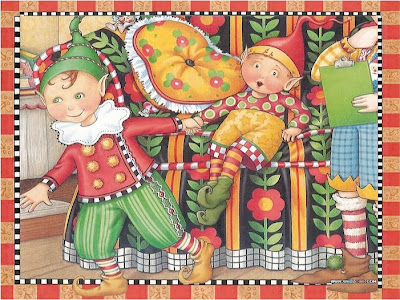 sample page from THE NIGHT BEFORE CHRISTMAS by  Mary Engelbreit