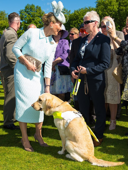 Sophie, Countess of Wessex hosted a garden party at Buckingham Palace on June 4, 2015 in London, England. The party, hosted by the Countess, was held to mark the 100th anniversary of Blind Veterans UK.