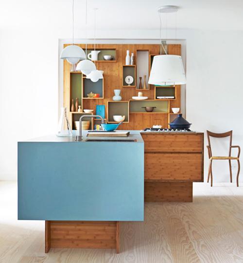 Dise o de mueble funcional de bamb para cocinas peque as - Muebles para casas pequenas ...