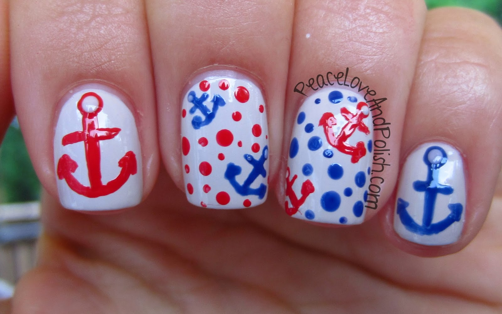 Cute Anchor Nail Designs - Creative Nail Design