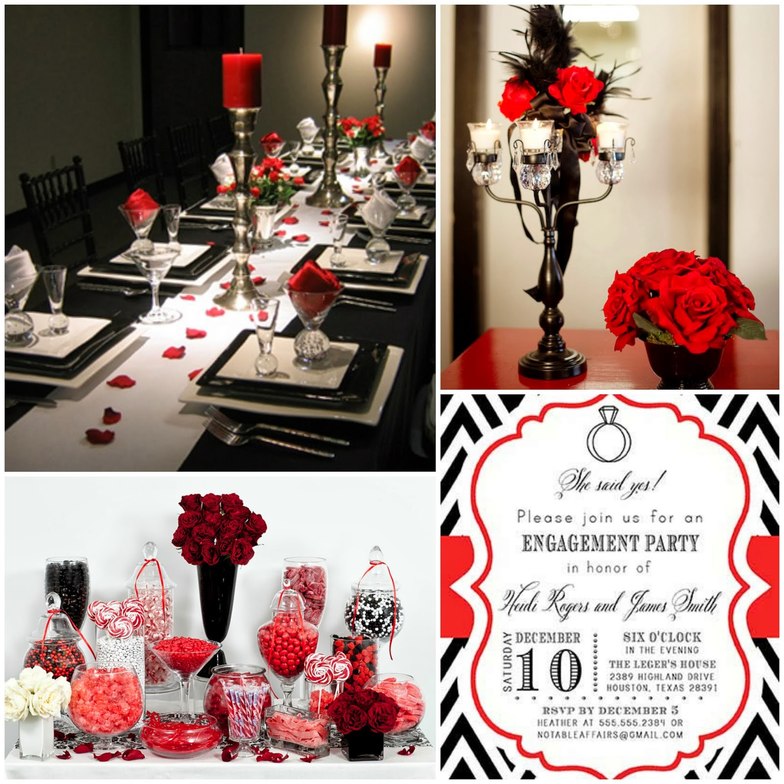 Red And Black Themed Birthday Decorations Image Inspiration of