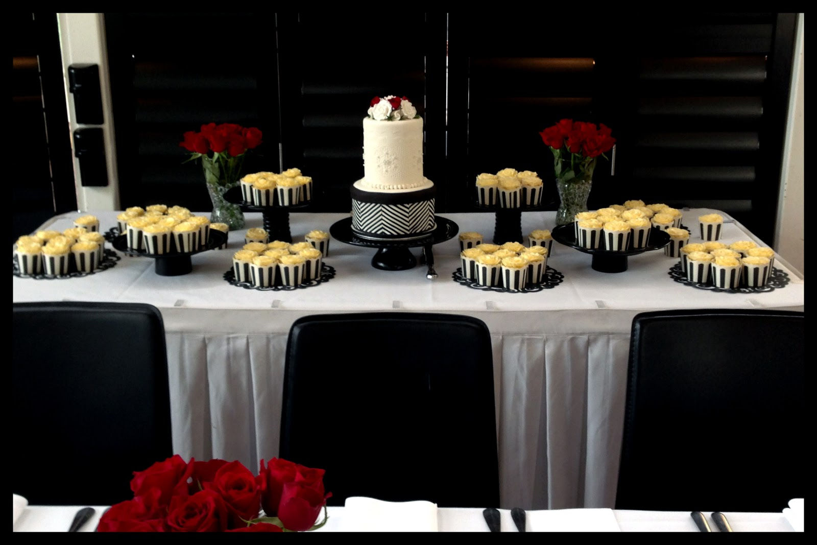 Sugarpie Honeycrumbs Elegant Back And White Wedding