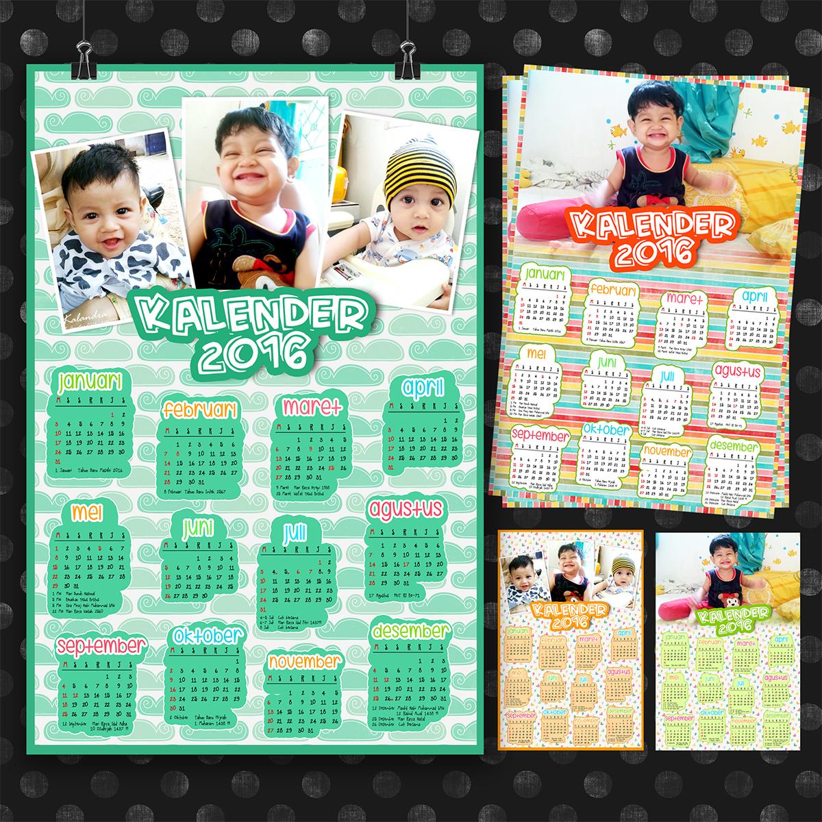 kalener poster/dinding A3