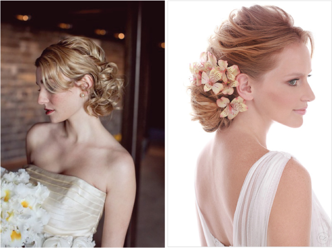 POLISHED UPDO For a ballroom elegant wedding nothing better than one of