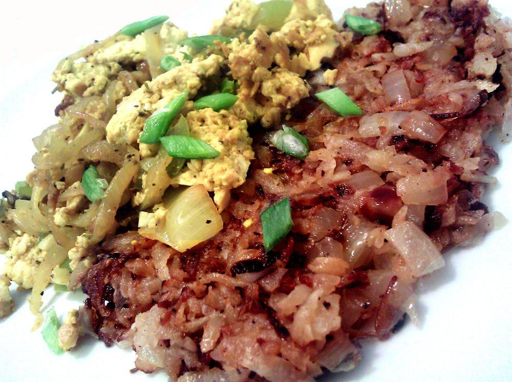 Profound Hatred of Meat: Jicama Hash Browns, Denver Scramble