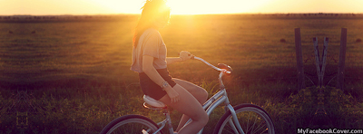 Girl In Sunset Facebook Covers