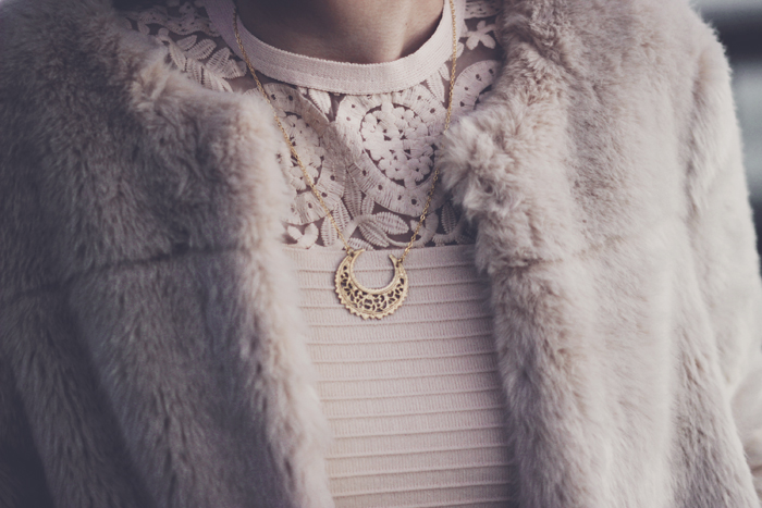 regal rose crescent moon necklace aimerose blog