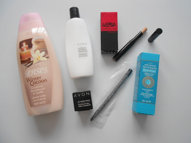 avon haul uk offer free coupon gift morrocan oil primer winter 2013 mega effects paintbrush mascara