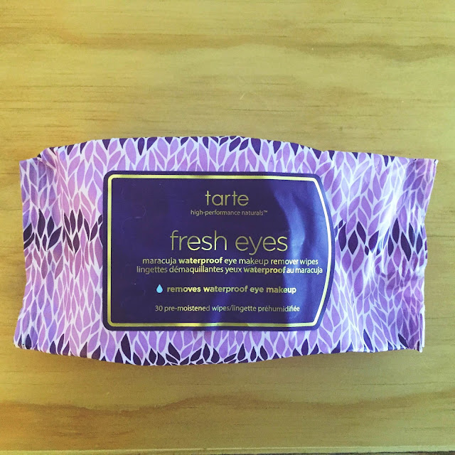 Tarte, Tarte Fresh Eyes Maracuja Waterproof Eye Makeup Remover Wipes, cleansing wipes, makeup remover, eye makeup, eyeshadow, eyeliner, mascara, cleanser, skin, skincare, skin care