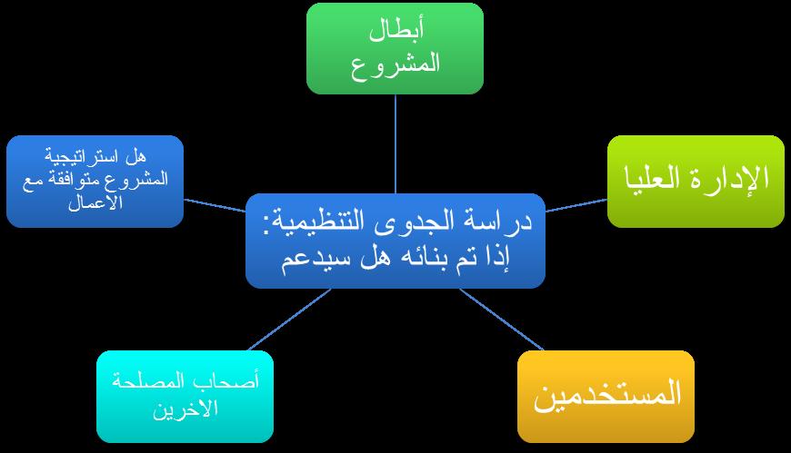 الجوانب التي تتطرق اليها دراسة الجدوى التنظيمية