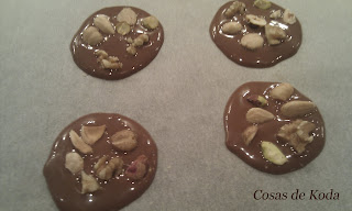 Chocolatinas con frutos secos