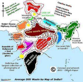 Delhi 39 S Map Of India A K A Bharat Ka Naksha Pandora 39 S Box
