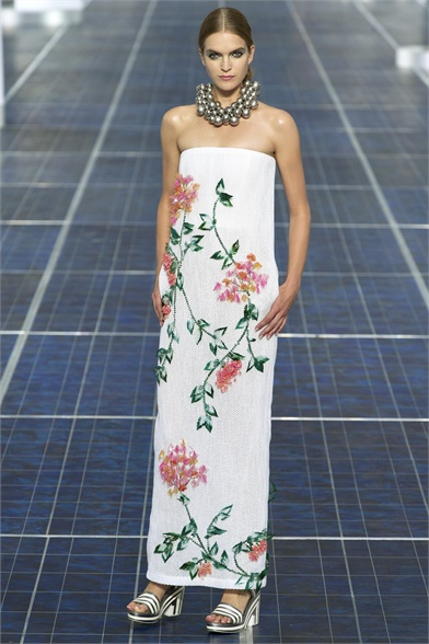 chanel flower dress 2013