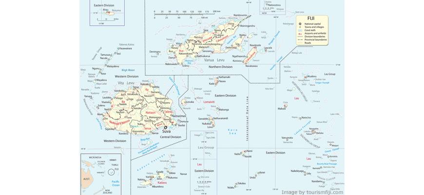 Fiji Islands Map