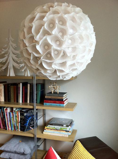 Seed feed diy project orb lights - Paper lantern chandelier ...