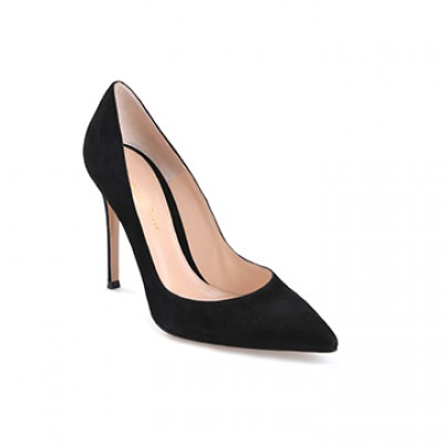Princess Mary Style - GIANVITO ROSSI Black Suede Pump