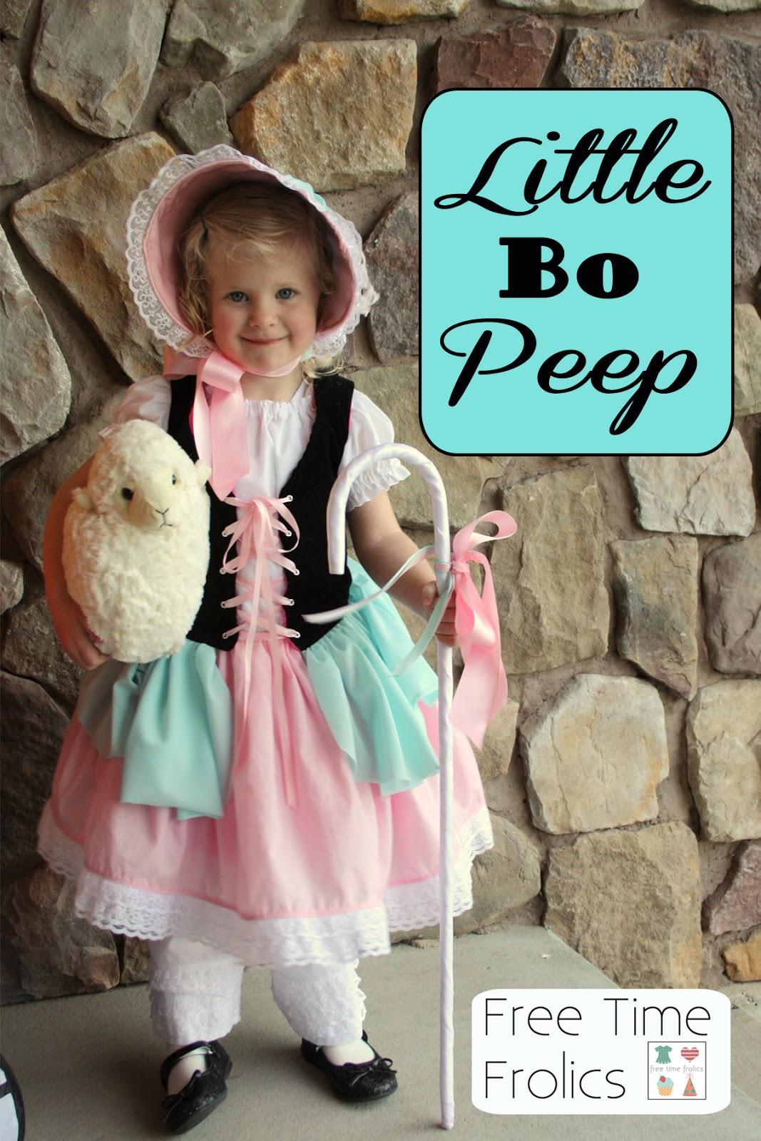 halloween costume -little bo peep - free time frolics