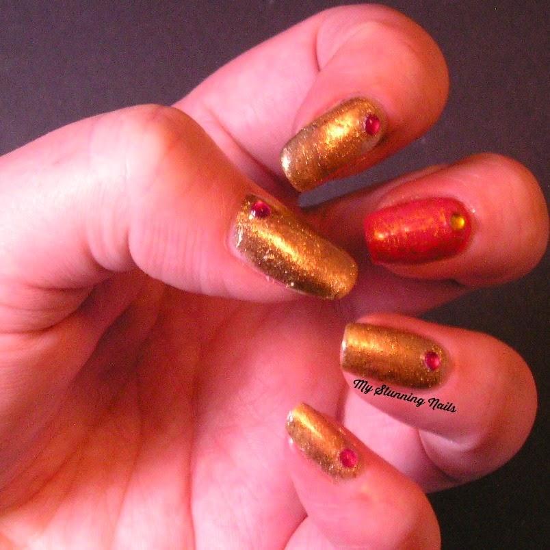 Nail Art Tuesday - Foil & Gold - My Stunning Nails