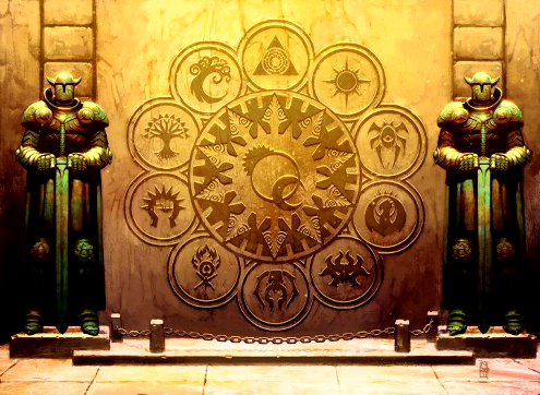 The symbols of the Guilds
