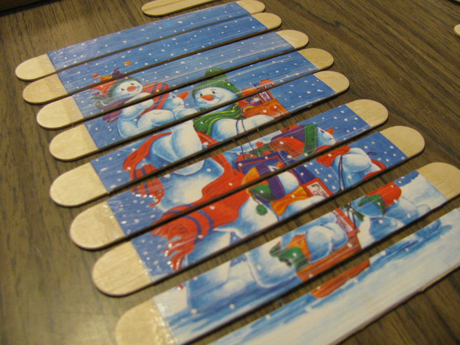 Popsicle stick puzzles toy craft preschool education for for How to make popsicle stick crafts