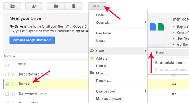 how to make a google drive folder