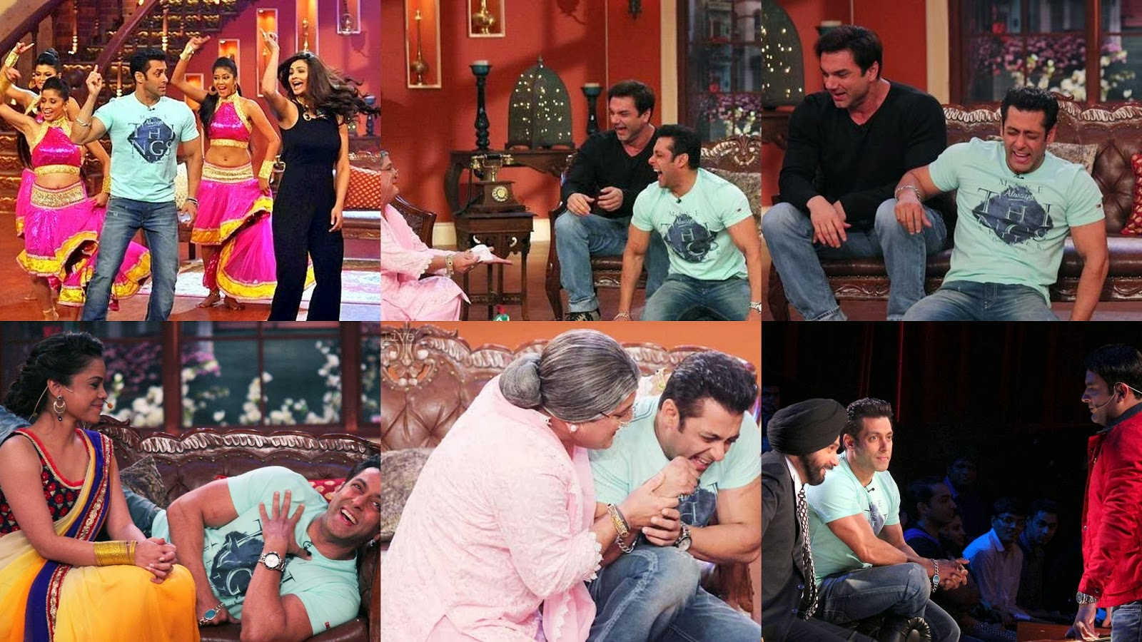 Salman Khan laughing a lot at Comedy Nights with Kapil