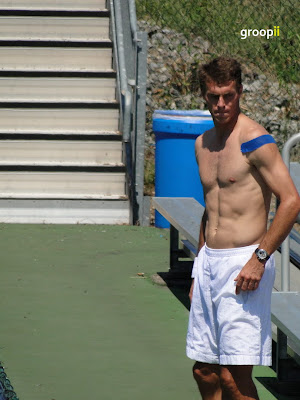 Frantisek Cermak Shirtless at Cincinnati Open 2010