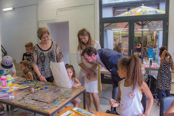 Hereditary Grand Duke Guillaume and Hereditary Grand Duchess Stephanie visited the Cooperative Association and socio-cultural Cooperations in Wiltz