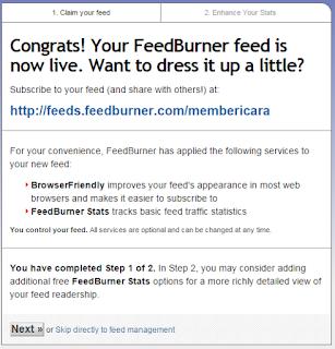 Cara Mudah Mendaftar Google Feedburner