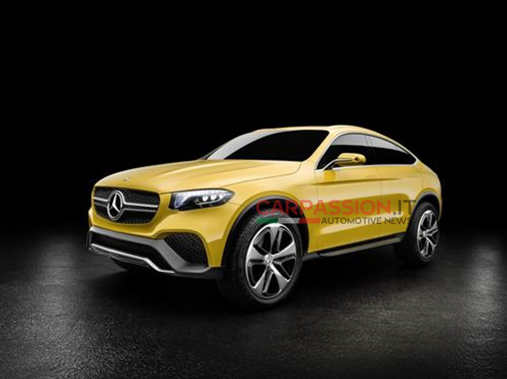 New mercedes benz glc coupe concept photos leaked for New mercedes benz concept